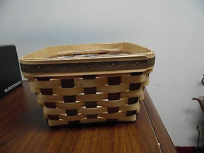 Longaberger American Craft Traditions, Large Berry Basket With Protector