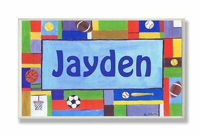 The Kids Room by Stupell Jayden, Contemporary Sports Personalized Rectangle Wall
