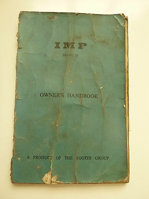 Hillman Imp MkII 2 Owner's Handbook by Rootes Part Number 6601247