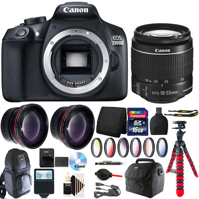 Canon EOS Rebel 1300D/T6 DSLR Camera with 18-55mm + 16GB Top Accessory Kit