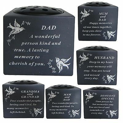 Memorial Dove Bird Graveside Cemetery Flower Holder Pot Grave Sentimental Vases