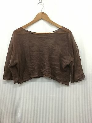 Sarah Pacini fits 10 12 14 16Dark Brown Chocolate See Through Light Cgrop Top