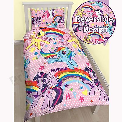 MY LITTLE PONY COTTON MIX SINGLE DUVET COVER 2 in 1 DESIGNS