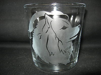 New Etched Keeshond Santa Christmas Old-Fashioned Rocks Glass Tumbler