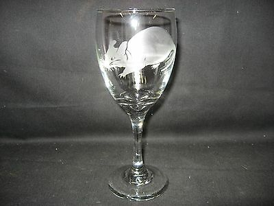 New Etched Rat Wine Glass