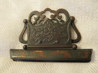 Antique June 6, 1882  Pinch Squeeze Latch Photo Album Ornate Flower No.10133