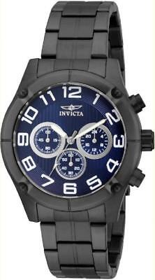 Invicta 15373 45mm Specialty Chronograph Blue Dial Stainless Steel Mens Watch