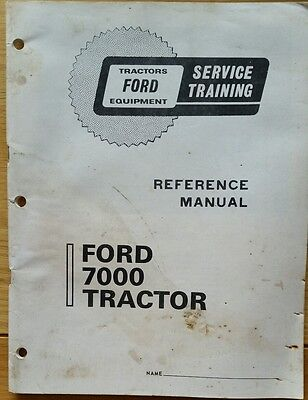 Ford 7000 Tractor Service Training Manual