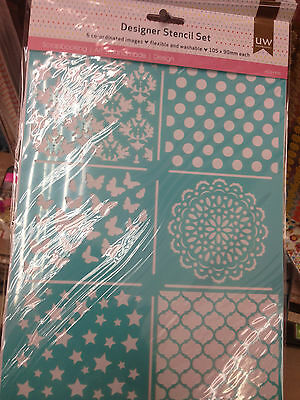Scrapbook Designer Stencil Template Set Type 03 butterfly mandala crown star