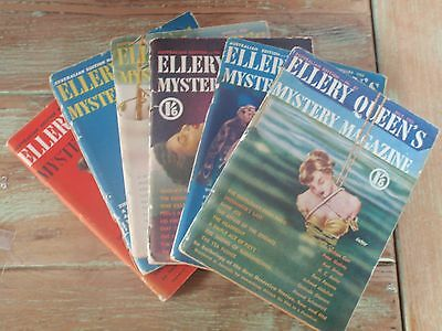 Lot of 6 Ellery Queen's 1952 and 1951 Mystery Magazine Australian Edition