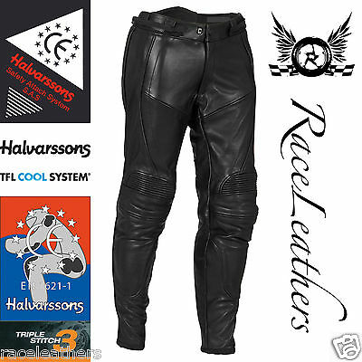 Halvarssons Ce Approved En 13595 Safety Leather Motorcycle Motorbike Trousers