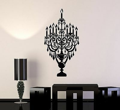 Vinyl Wall Decal Candles Candlestick Lighting Home Decoration Stickers (550ig)