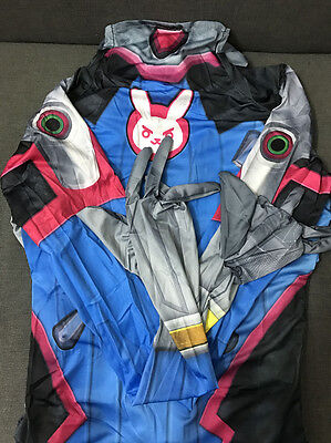 Overwatch OW Game D. Va DVA Lady Jumpsuit Cosplay Costume Halloween High Quality
