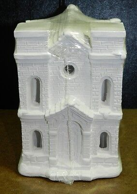 NEW SEALED California Creations unpainted plaster CATHEDRAL SE162 & topper