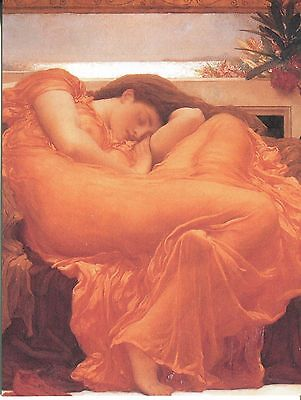 Post Card Of The Famous Painting Flaming June By Frederick Leighton
