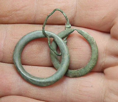 bronze celtic  rare type ancient money countable ring.