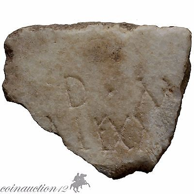 Greek Or Roman Marble Fragment From Plaque With Inscriptions