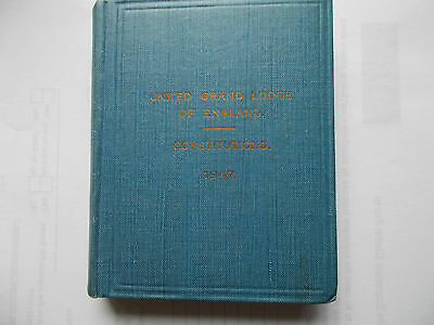 United Grand Lodge of England constitutions 1947