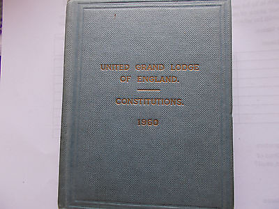 United Grand Lodge of England Constitutions 1960