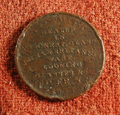1837 Haselton Palmer Dover New Hampshire Low 131 R2 Rough HD Token