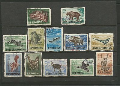 "Romania 1956 Unmounted Full Stamp Set Cto ""wildlife"" Sg2423-2434"