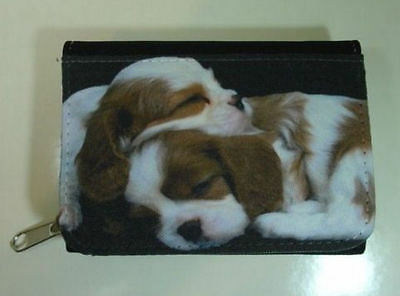 Cavalier king Charles Spaniel Puppy's Fabric Purse