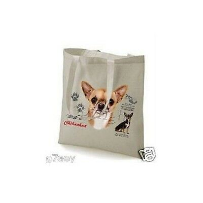 Chihuahua History Design Printed On A Tote Shopping Bag