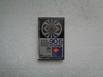 Vintage Audio Cassette AGFA Super Ferro Dynamic 90+6 * Rare From 1978 * Unsealed