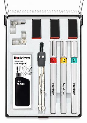 Liquidraw Technical Drawing Pen Set of 3 College Set