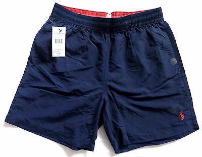 Polo Ralph Lauren Mens New Navy Blue Swimming Swim Shorts Trunks S M L Xl Xxl