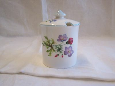 Shelley  Mustard Pot With Wild Flowers Design  8cm Tall No13668 on Backstamp