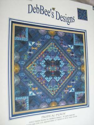 DebBee's Designs TROPICAL PUNCH Canvaswork Chart- 216x216 Stitches
