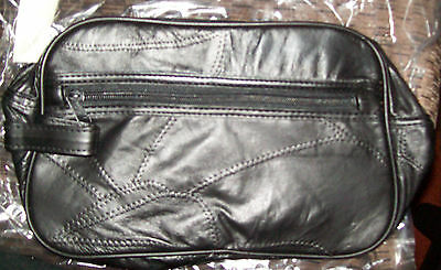 Leather Toiletry  Cosmetic Bag New