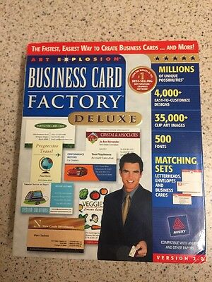 Business Card Factory Deluxe Version 2.0 Pc Nova New