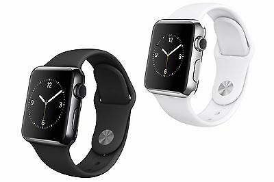 Apple Watch 38mm Stainless Steel w/ Sport Band (MLCK2LL/A or MJ302LL/A)