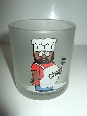 Collectable / Useful 1998 Small Frosted Glass Featuring Chef
