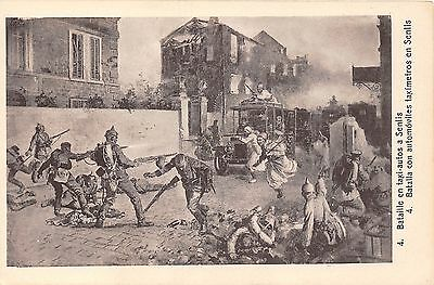 POSTCARD  MILITARY    WWI      Convoy  Attack