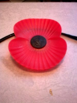 Royal British Legion Car Bumper Poppy, New To Display With Pride & Remembrance..