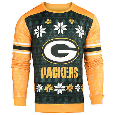 buy online 7c5d2 dfb2f FOREVER COLLECTIBLES NFL Men's Green Bay Packers Printed Ugly Sweater