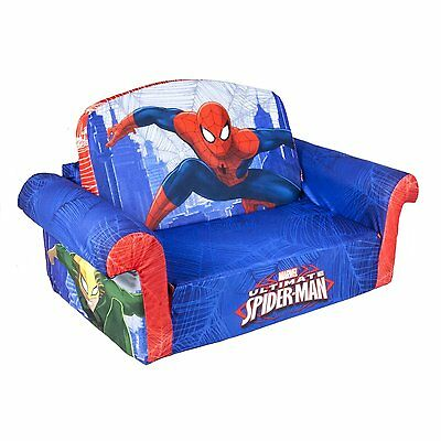 Marshmallow 2 in 1 Comfy Flip Sofa Marvel Spiderman Toddler Nap Couch NEW