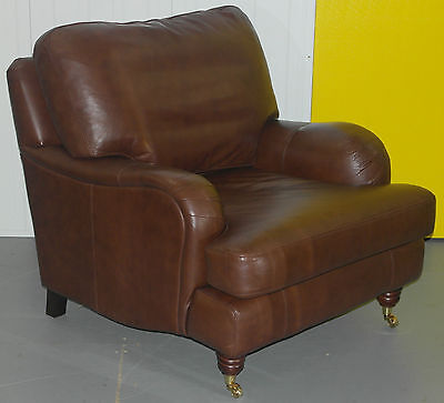 One Of Two Nearly New Rrp £2199 Multiyork Verona Apache Brown Leather Armchair