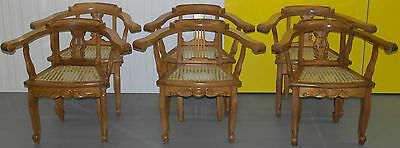 Six Lovely Berger Rattan Elbow Chairs Ideal As Hallway Display Pieces Cafe Shop