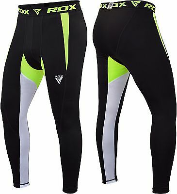 RDX Men's Thermal Compression Pants Flex Base Layers Tights Boxing Exercise MMA