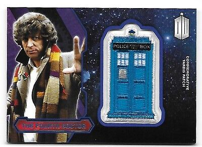 Doctor Who Topps 2015 TARDIS Patch Card The Fourth Doctor Purple Parallel 19/99