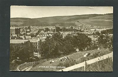 Peebles - View of Town from Venlaw RP p/u 1917
