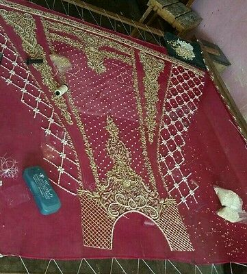 pakistani weddingwear Heavily embroided dress made on order . can be customised