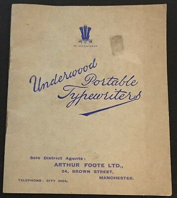 Underwood Portable Typewriters Catalogue 1920s