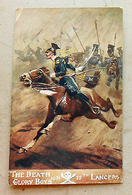 "Original WW1 British Postcard - 17th Lancers ""The Death or Glory Boys"""