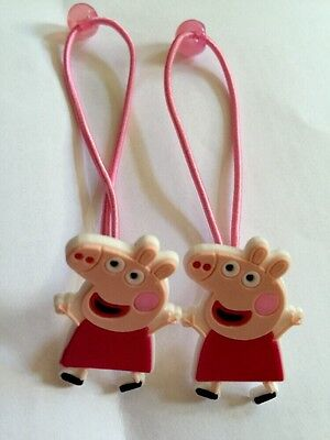 2 X Peppa Pig Hair BANDS/BOBBLES/CLIPS,Girls Birthday Bag Filler,Accessories 743