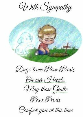 DOG LOSS SYMPATHY card. Hand Crafted and personalised by Dandelion Memorials xx